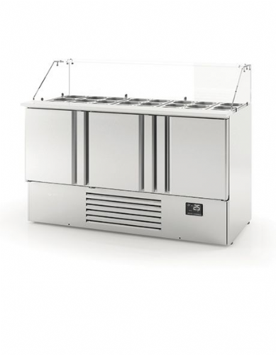 Infrico Compact Gastronorm Counter with glass display - ME1003KB